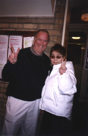 Paul Templin and Yoko Ono