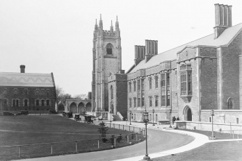 Exterior of Hart House and Soldiers' Tower as seen in 1925