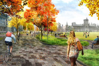 Rendering of revitalized front campus