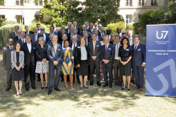 Photo of university leaders at the U7 Alliance in Paris