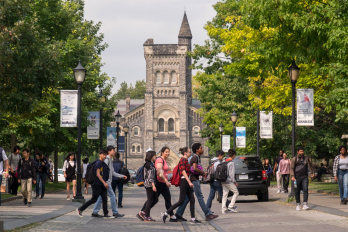 Photo of students outside of University College
