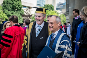 Chancellor Michael Wilson and Meric Gertler