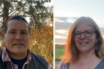 Randy Lundy (photo at left) and Kateri Akiwenzie-Damm (photo at right)
