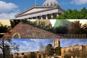 composite image of university of oxford, technologico de monterrey, and university of london