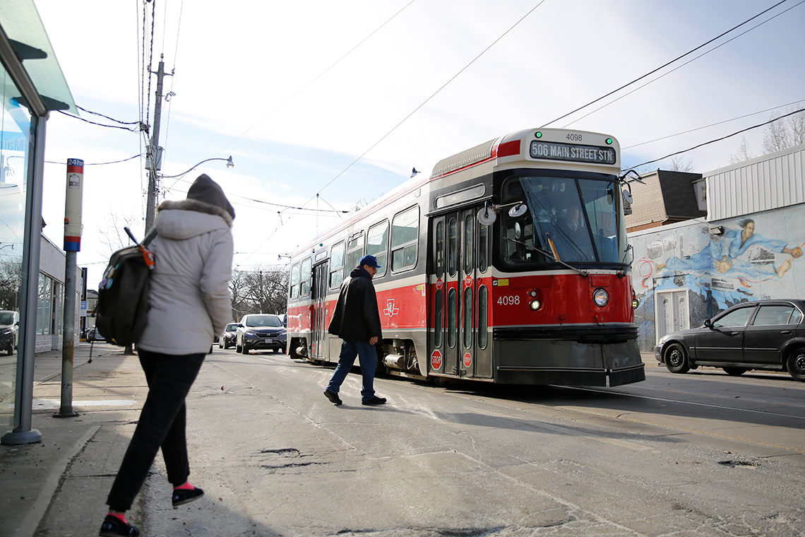 Streetcar at Main and Gerrard